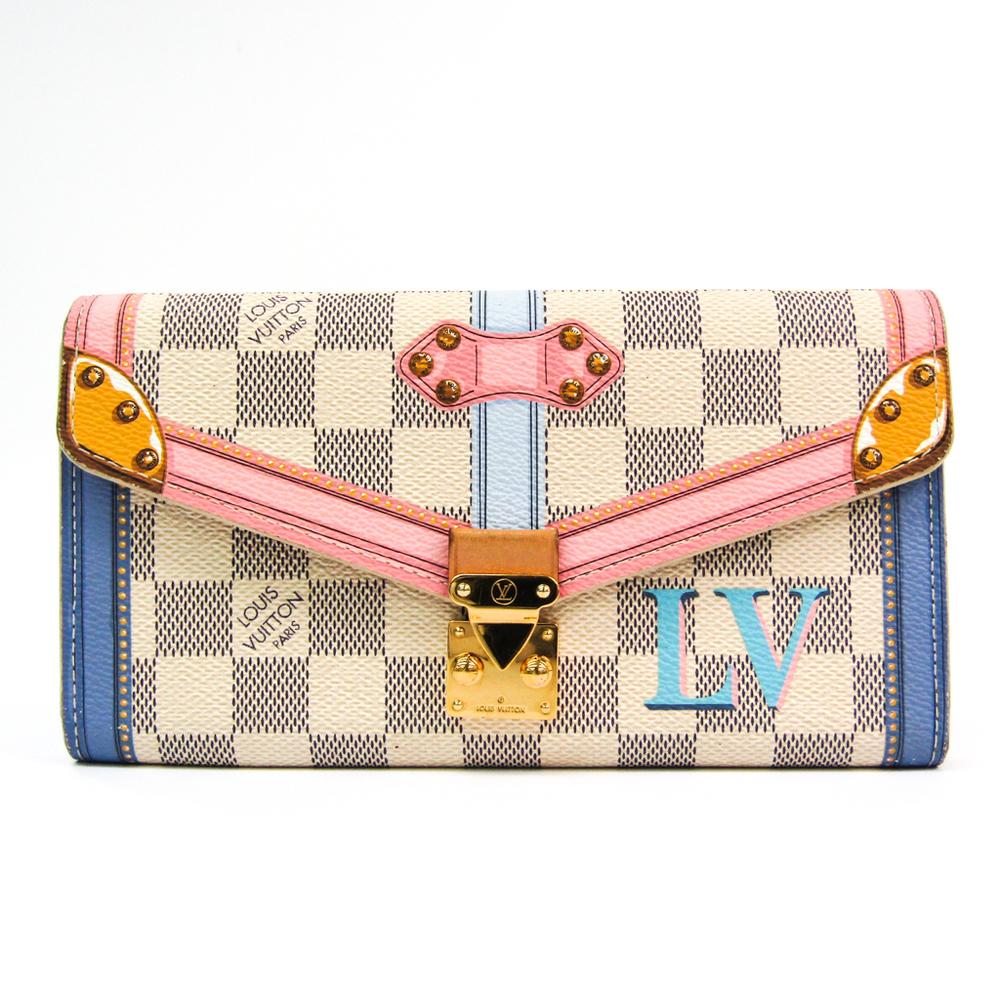 Louis Vuitton Damier Azur Portofeuille-Sala Trunk Collection N60119 Women's Damier Azur Long Bill Wallet (bi-fold) Damier Azur,Multi-color