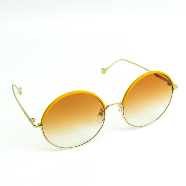 Loewe Women's Sunglasses Champagne Gold,Yellow Round LW40008U