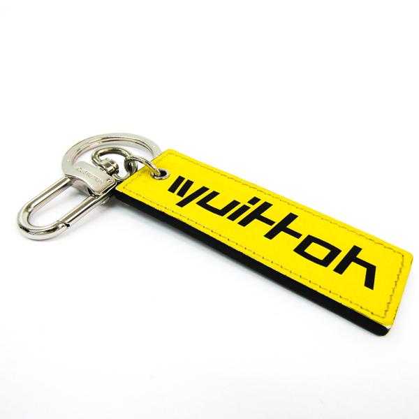 Louis Vuitton Vuitton Tab Monogram Logo M68292 Keyring (Gray,Silver,Yellow)