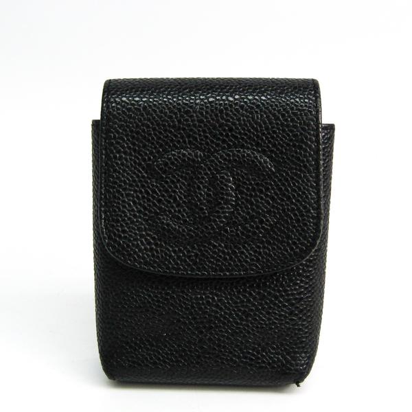 Chanel Cigarette Case Caviar Leather Black A13511