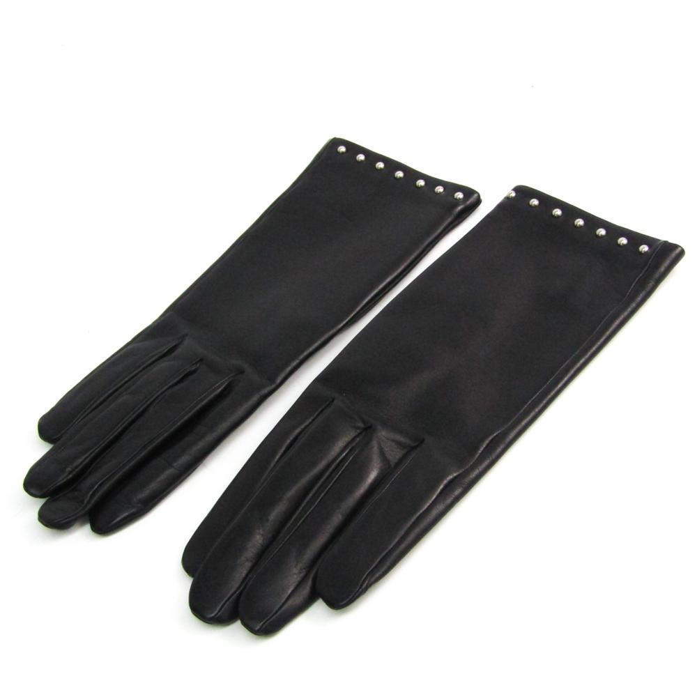 エルメス(Hermes) ソヤ 手袋 グローブ H005062GT01065 レディース 手袋 ブラック レザー
