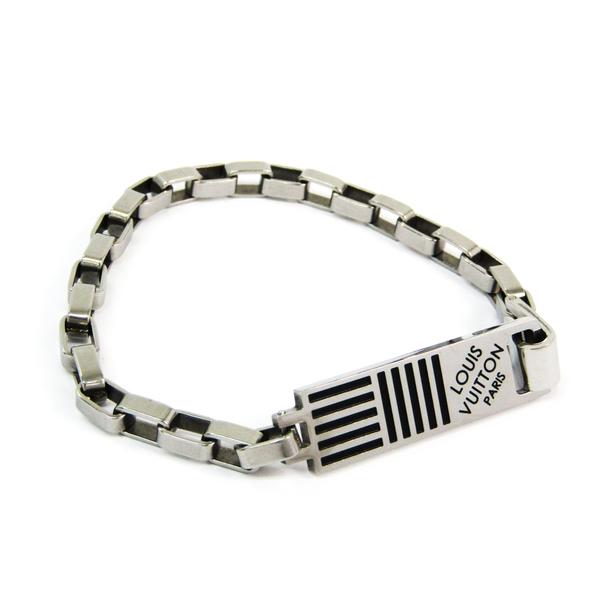 Louis Vuitton Bracelet Chain Damier M62598 Metal Bracelet Silver