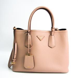 Prada Saffiano Saffiano Cueil BN2775 Women's Saffiano Shoulder Bag,Tote Bag Pink Beige
