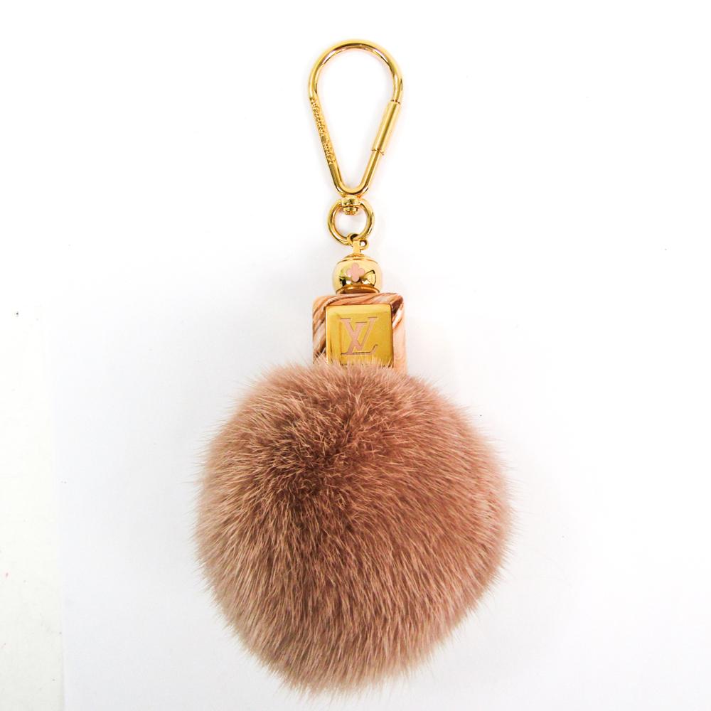 Louis Vuitton Fur,Metal Handbag Charm Pink Fluffy Keychain M67943