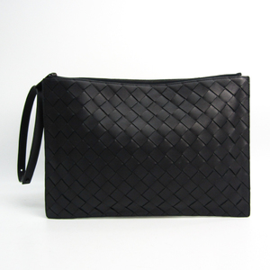 Bottega Veneta Intrecciato Men's Leather Clutch Bag Black