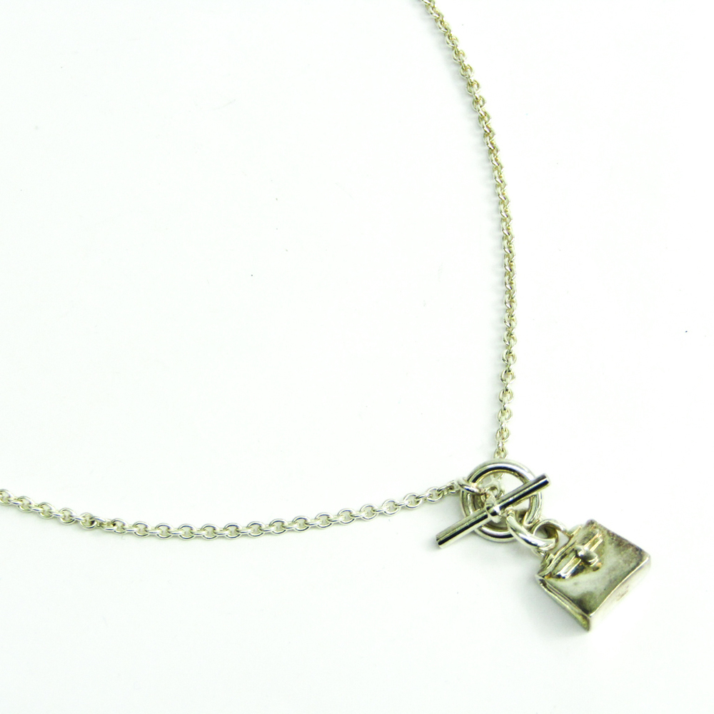 Hermes Amulet Kelly Silver 925 Women's Pendant Necklace (Silver)