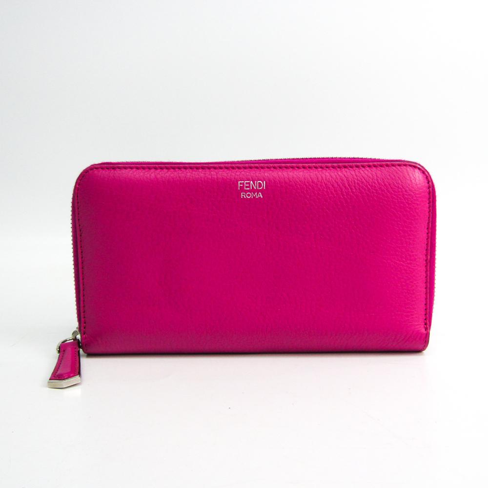 フェンディ(Fendi) 8M0299 1AD レディース  カーフスキン 長財布(二つ折り) ネイビー,ピンク