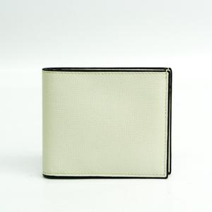 ヴァレクストラ(Valextra) V8L23 ユニセックス  型押しカーフ 財布(二つ折り) オフホワイト