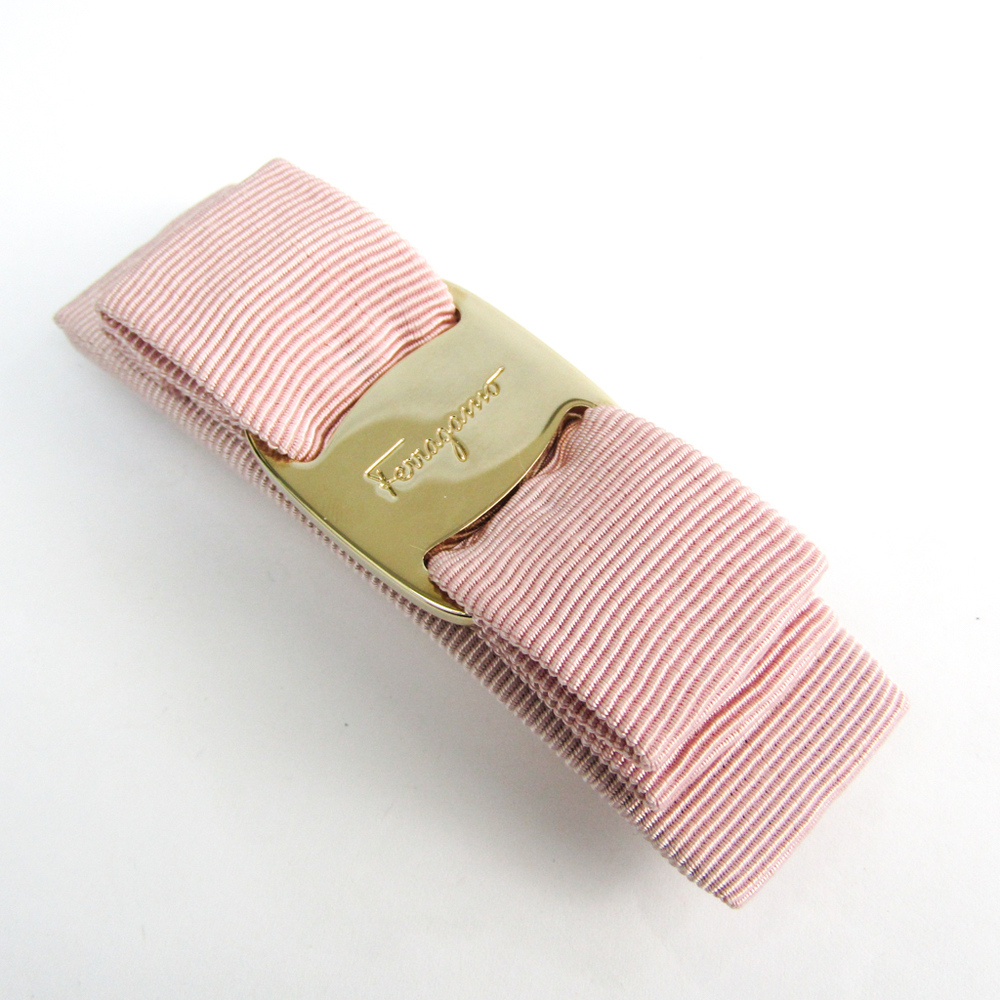 Salvatore Ferragamo Vala Metal,Textile Women's Barrette Light Pink