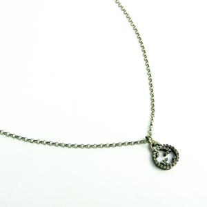 Gucci Interlocking G Silver 925 Women's Pendant Necklace (Gunmetal)