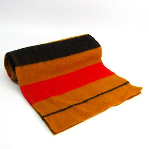 エルメス(Hermes) ロカバール マフラー レディース ウール スカーフ ストライプ ネイビー,レッド,イエロー