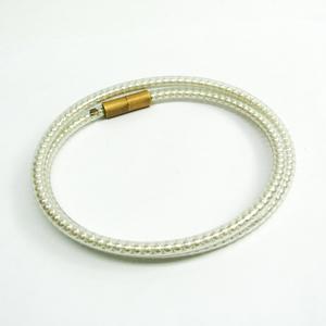 シャネル(Chanel) ビニール レディース ネックレス (ゴールド,アイボリー) チューブ フェイクパール 00S