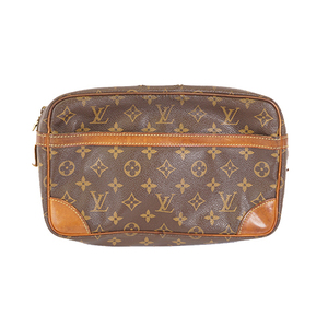 Auth Louis Vuitton Monogram Compiegne M51845 Men,Women,Unisex Clutch Bag,Pouch