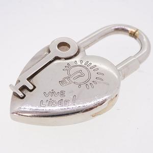 Auth Hermes Cadena Heart Motif Key Motif 2004 Limited Edition Metal Material Silver Color