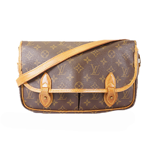 Auth Louis Vuitton Monogram Gibeciere MM M42247 Women's Shoulder Bag