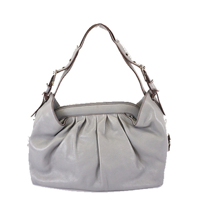 Fendi Shoulder Bag Women's Leather Shoulder Bag Gray
