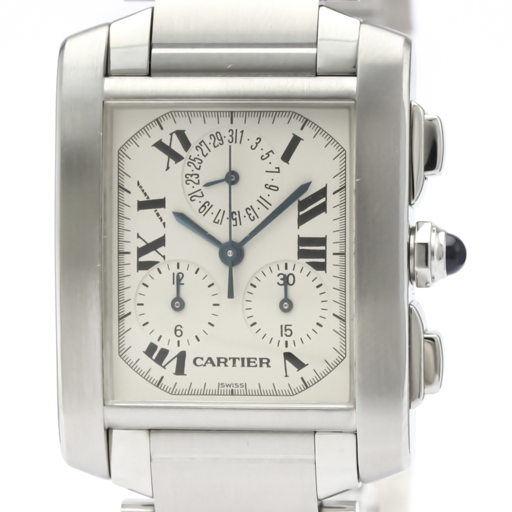 Cartier Tank Francaise Quartz Stainless Steel Men's Dress Watch W51001Q3