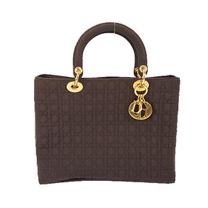 Christian Dior Lady Dior Women's Cotton Handbag Brown
