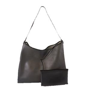 Auth Salvatore Ferragamo Gancini Women's PVC Shoulder Bag Black