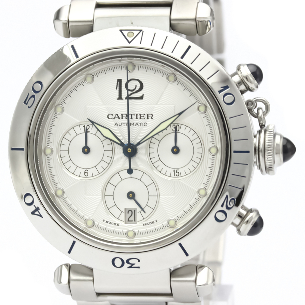Cartier Pasha 38 Automatic Stainless Steel Men's Sports Watch W31030H3
