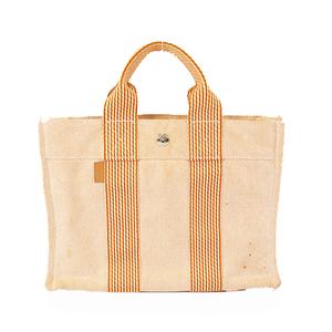 Auth Hermes New Fourre Tout  Women's Canvas Tote Bag Orange