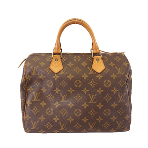 Auth Louis Vuitton Monogram  Speedy30 M41108 Women's Handbag Brown