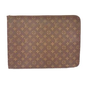 Auth Louis Vuitton Monogram Posh Documan M53456 Men's Briefcase Monogram