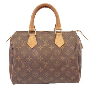 Auth Louis Vuitton Monogram Speedy 25 M41109 Women's Boston Bag,Handbag Brown