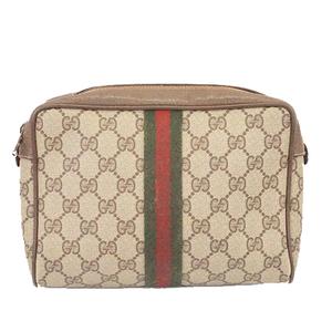 Auth Gucci Sherry Line Clutch Bag GG Supreme89 01 012  Men,Women,Unisex GG Supre