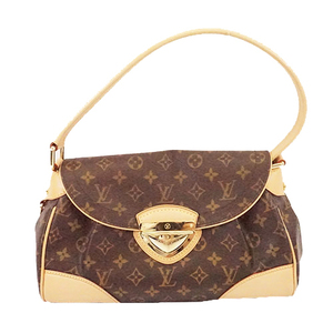 Auth Louis Vuitton Monogram Beverly MM M40121 Women's Handbag,Shoulder Bag Brown
