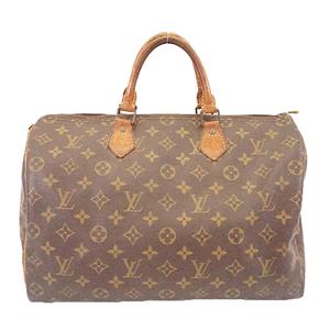 Auth Auth Louis Vuitton Monogram Speedy 35 M41107 Women's Handbag Brown