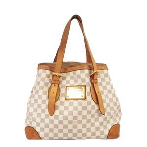 Auth Louis Vuitton Damier Azur N51206 Hampstead MM Tote Bag