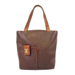 Auth Celine Macadam Women's PVC Tote Bag Brown