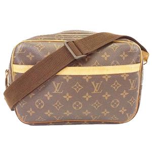 Auth Louis Vuitton Monogram ReporterPM M45254 Women's Shoulder Bag Brown