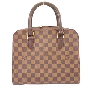 Auth Louis Vuitton Damier N51155 Women's Handbag Ebene