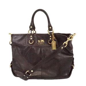 Auth Coach 2WAY Bag 12935 Women's Leather Handbag,Shoulder Bag Black