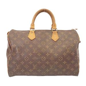 Auth Louis Vuitton Monogram Speedy 35 M41107 Women's Boston Bag,Handbag