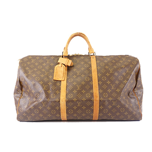 Auth Louis Vuitton Monogram Keepall 60 M41422 Men,Women,Unisex Boston Bag
