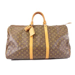 Auth Louis Vuitton Monogram Keepall 55 M41424 Men,Unisex,Women Boston Bag