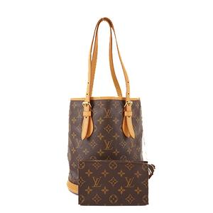 Auth Louis Vuitton Monogram Petit Bucket M42238 Handbag,Shoulder Bag,Tote Bag