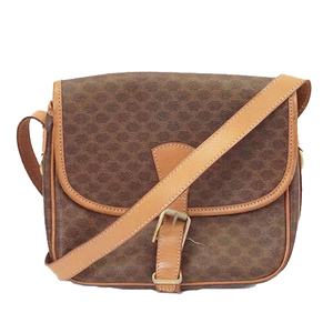 Auth Celine Macadam Women's PVC Shoulder Bag Brown