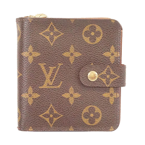 ルイヴィトン 二つ折り財布 モノグラム コンパクトジップ M61667