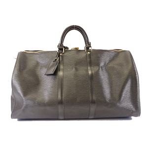 Auth Louis Vuitton Epi Keepall M59052 Men,Women,Unisex Boston Bag Noir