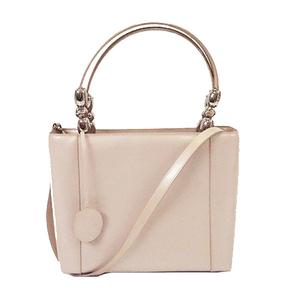 Auth Christian Dior 2WAY Bag Women's Handbag,Shoulder Bag Pink Beige