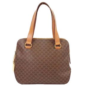 Auth Celine Macadam Women's PVC Handbag Brown