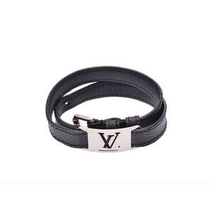 ルイ・ヴィトン(Louis Vuitton) ルイヴィトン グラフィット ブラスレサインニット 黒 メンズ 本革 ブレスレット ABランク LOUIS VUITTON 中古 銀蔵