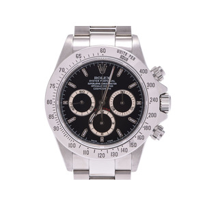 ROLEX Daytona black letter board 16520 A mens SS automatic winding wristwatch rank beautiful goods secondhand silver store