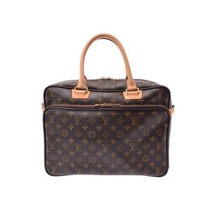 Louis Vuitton Monogram Ikar Brown M23252 Men's Women's Genuine Leather 2WAY Bag AB Rank LOUIS VUITTON Strap with Used Ginza