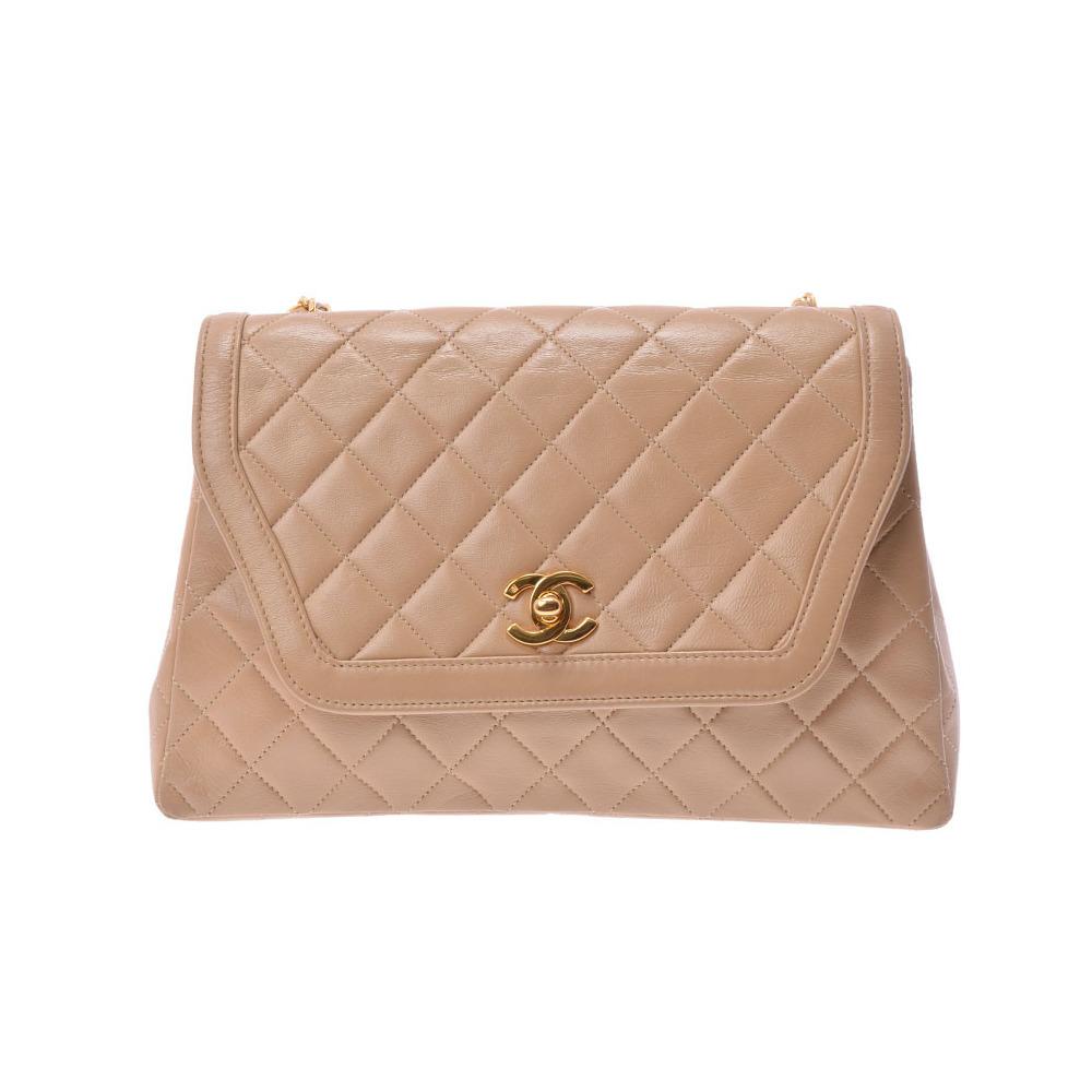 0fadda0c1974 シャネル(Chanel) シャネル マトラッセ チェーンショルダーバッグ ベージュ G金具 レディース ラムスキン Bランク