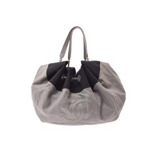 シャネル(Chanel) シャネル ココカバス グレー系/黒 レディース カーフ ショルダーバッグ Bランク CHANEL 中古 銀蔵